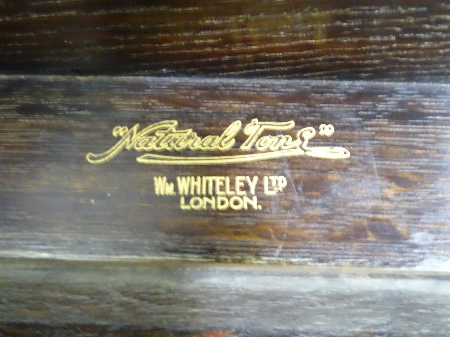 An oak cased wind up gramophone. Together with a quantity of records Please Note - we do not make - Image 9 of 13