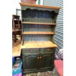 """A 20thC pine narrow dresser. Approx. 73"""" tall Please Note - we do not make reference to the"""