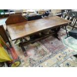 An ash dining table Please Note - we do not make reference to the condition of lots within