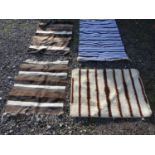 Three assorted rugs (3) Please Note - we do not make reference to the condition of lots within