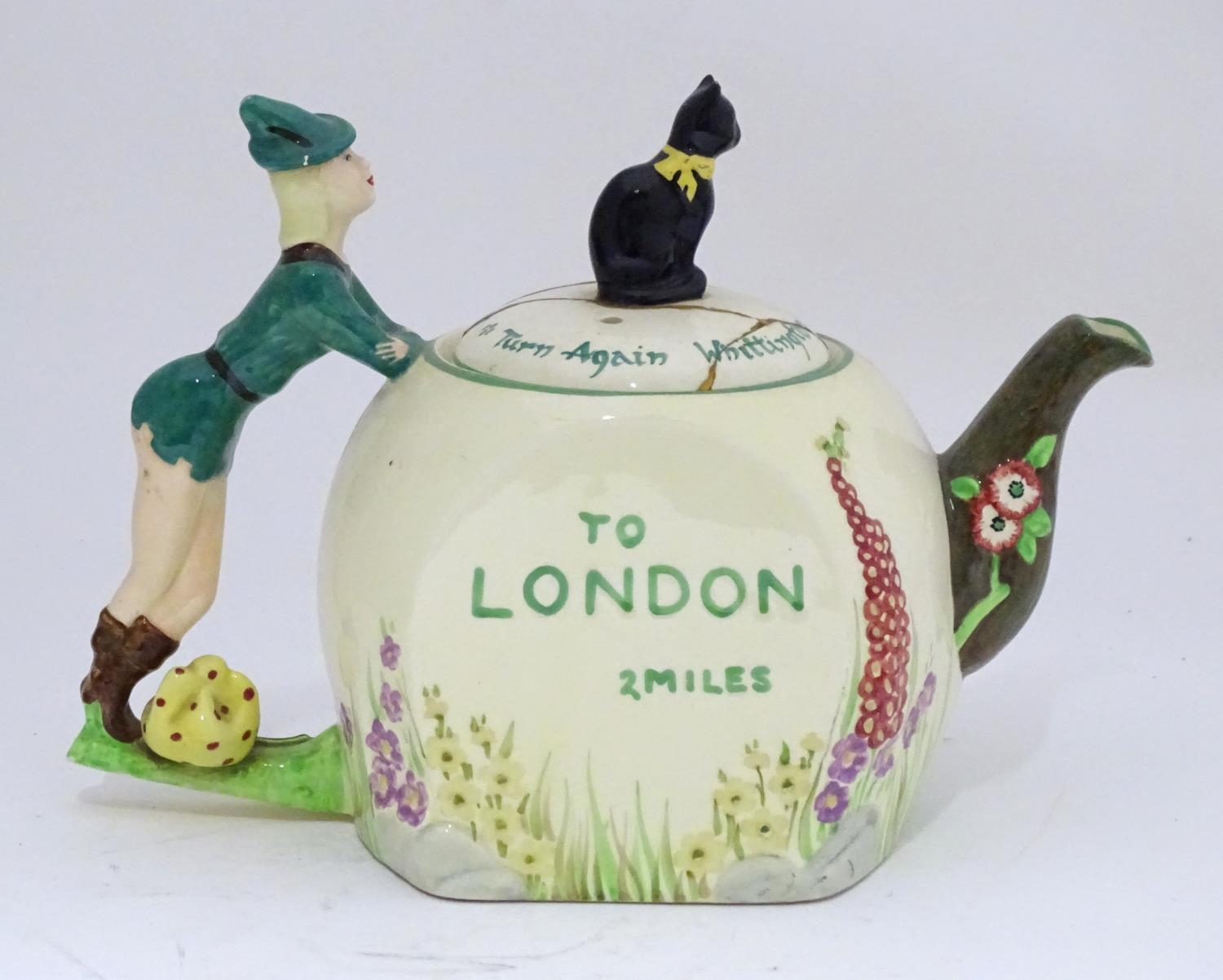 A novelty Dick Whittington teapot Please Note - we do not make reference to the condition of lots - Image 4 of 6