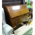 """A 20thC mahogany bureau on ball and claw feet. Approx. 40"""" high Please Note - we do not make - Image 3 of 4"""