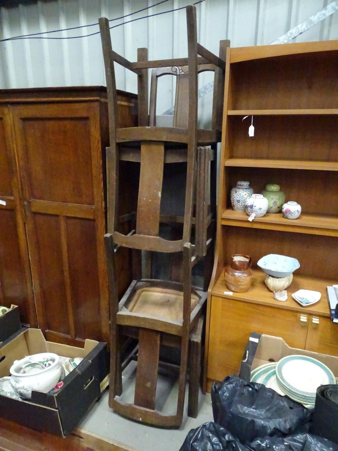 Four early 20thC dining chairs Please Note - we do not make reference to the condition of lots