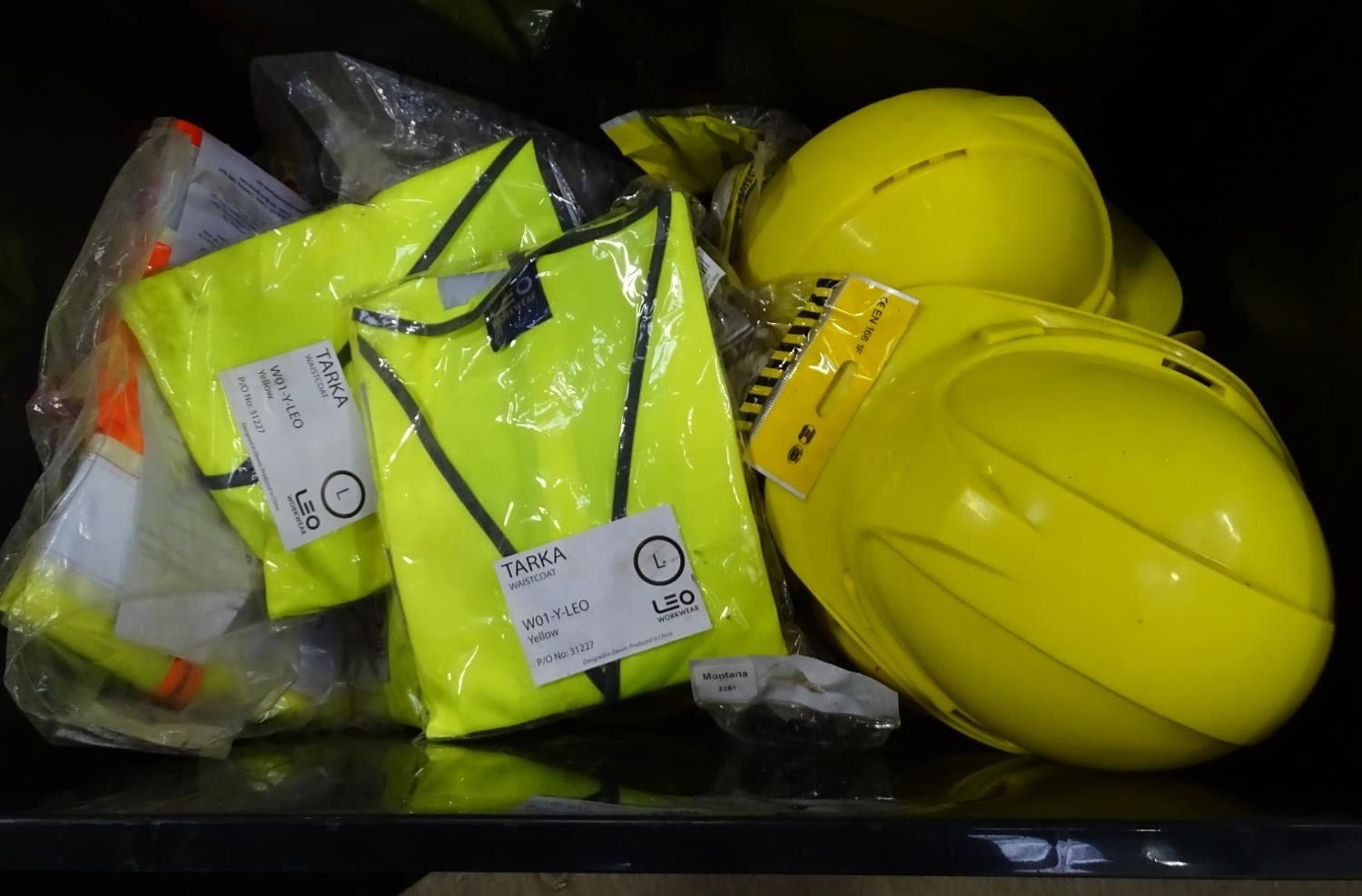 A quantity of health and safety equipment to include hard hats, safety glasses, hi vis vests etc. - Image 2 of 6