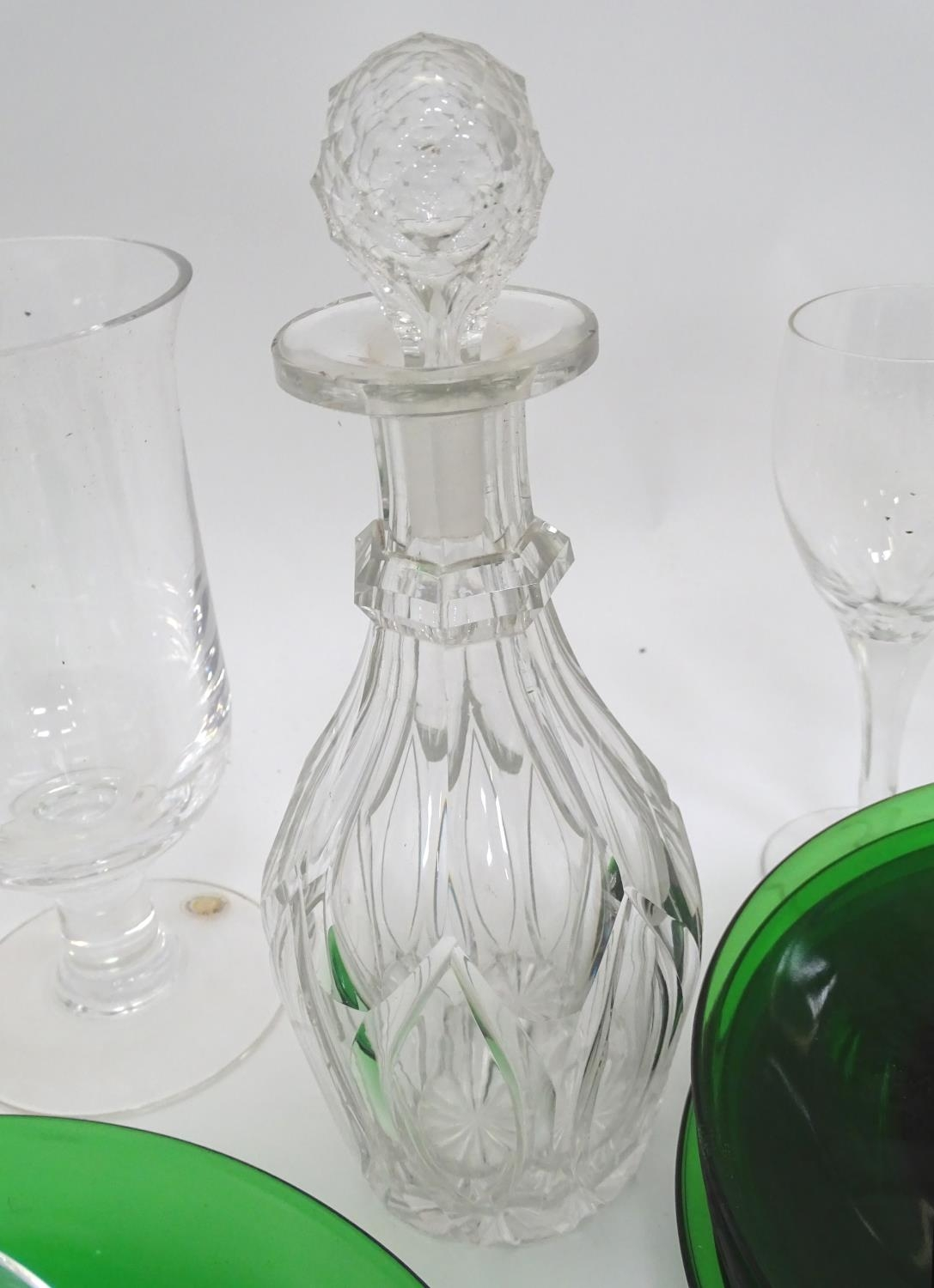 A quantity of assorted glassware to include decanters, drinking glasses, bowls etc Please Note - - Image 8 of 8
