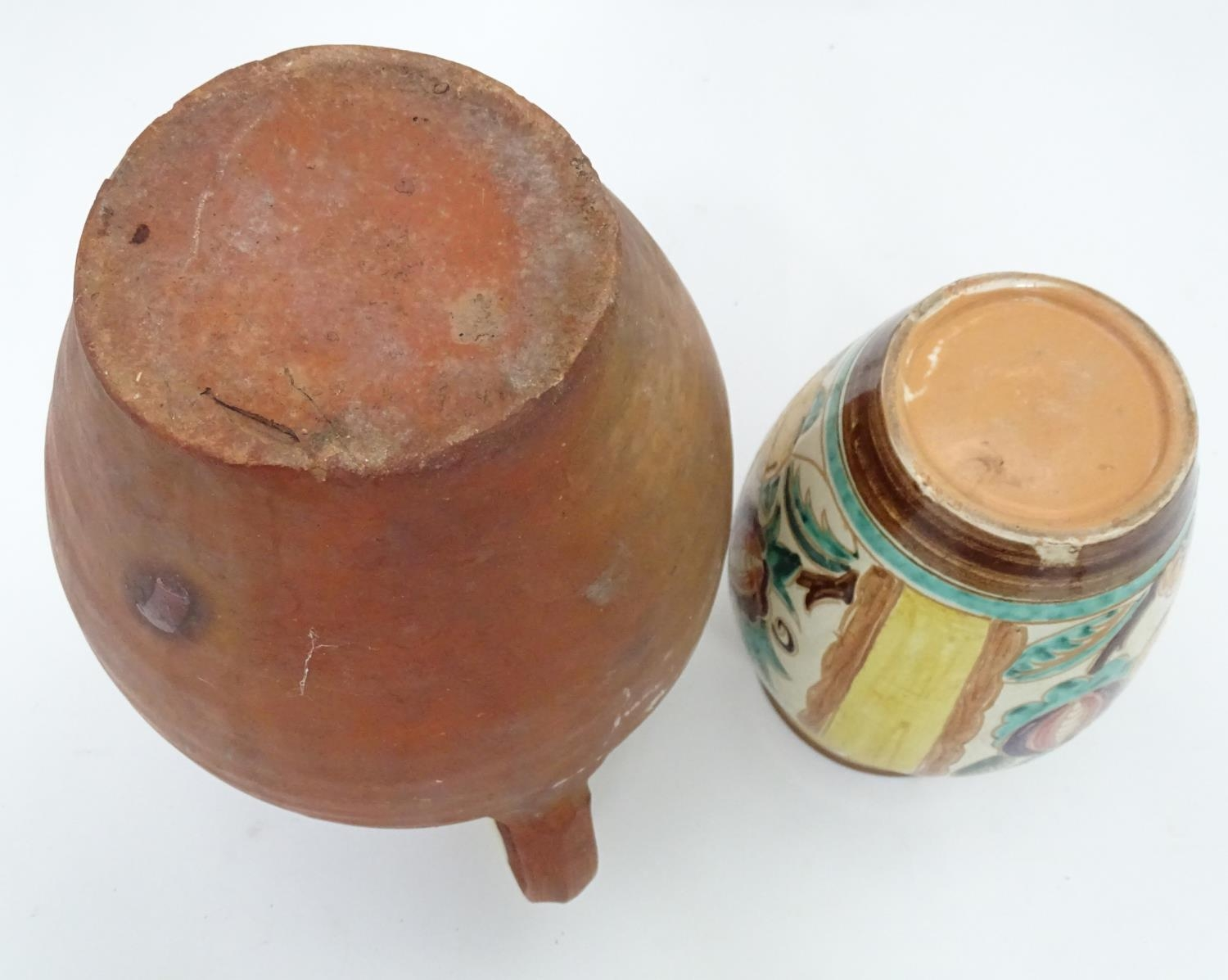 A 19thC terracotta jug together with a 20thC vase Please Note - we do not make reference to the - Image 2 of 6