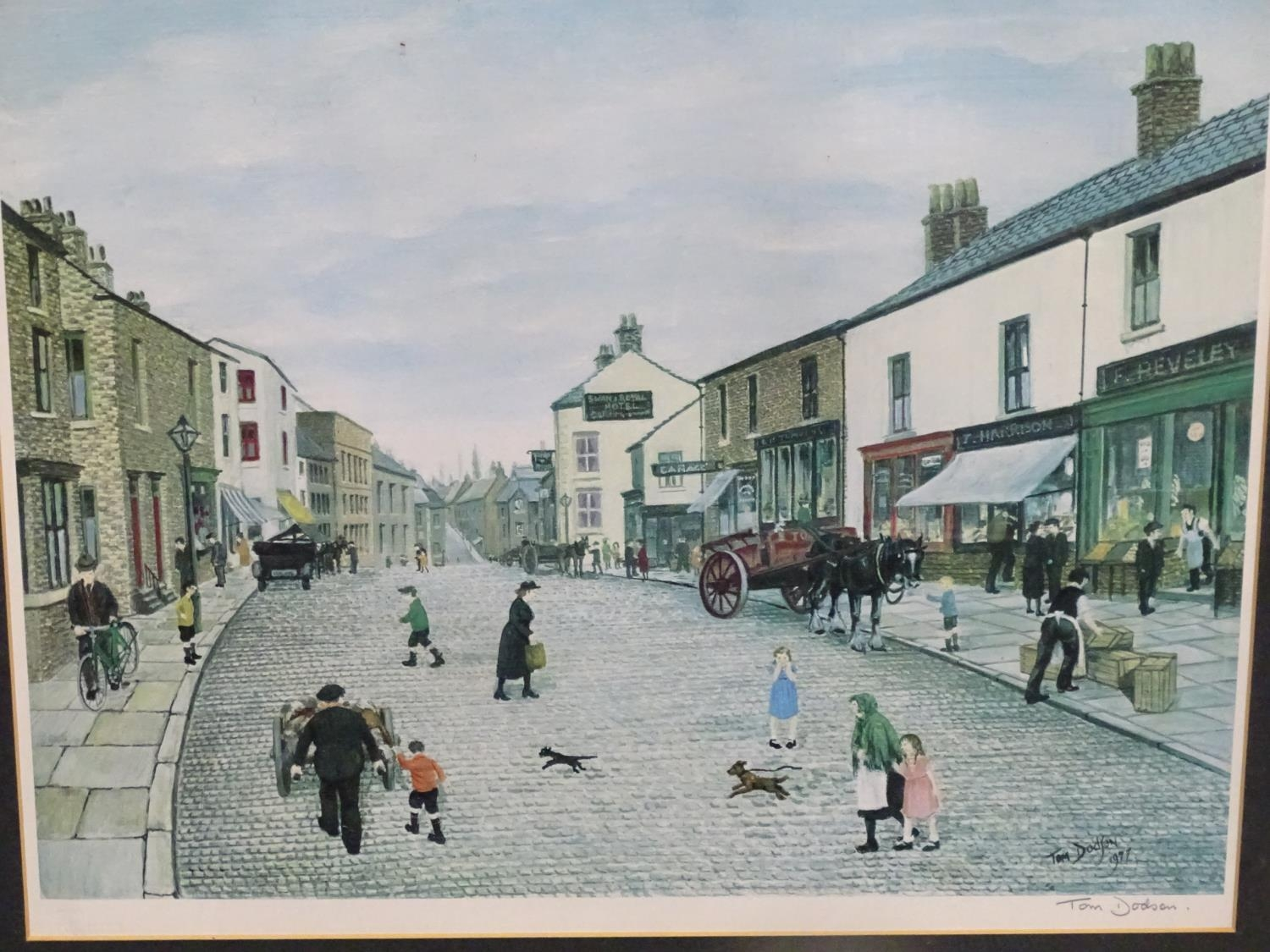 After Tom Dodson, 20th century, Limited edition coloured lithograph, The High Street Clitheroe, - Image 3 of 5
