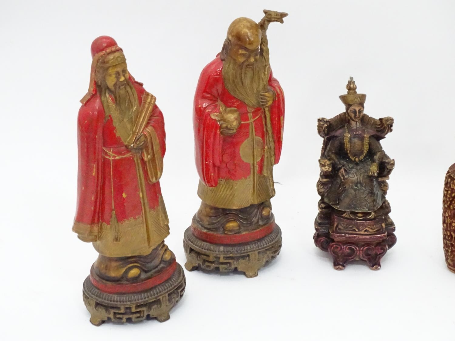 A quantity of Oriental figurines etc. Please Note - we do not make reference to the condition of - Image 4 of 6