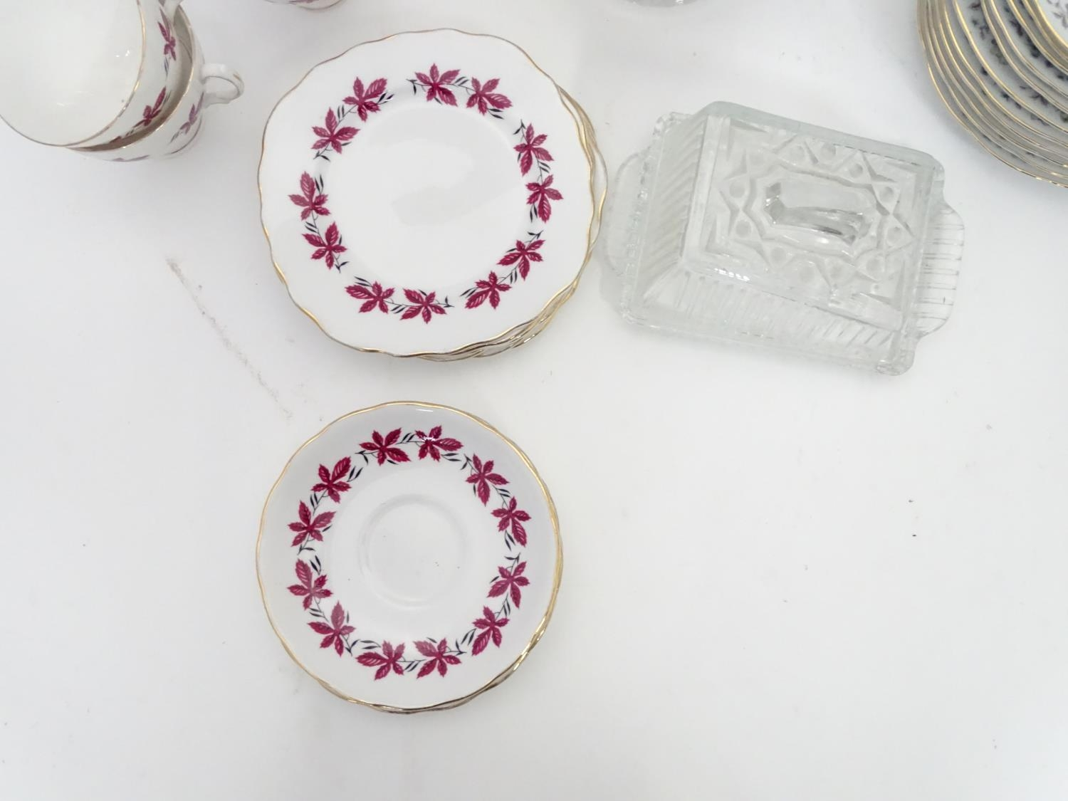 A quantity of assorted ceramics and glass to Colclough cups and saucer, Royal Brierley crystal - Image 4 of 15