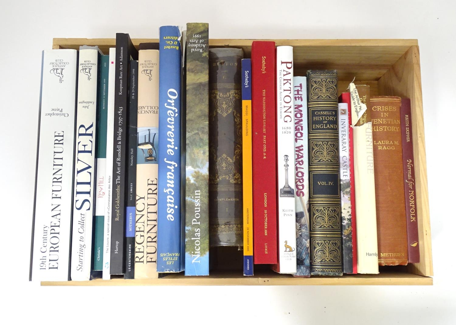 A quantity of reference books to include 19thC European Furniture, Starting to Collect Silver,
