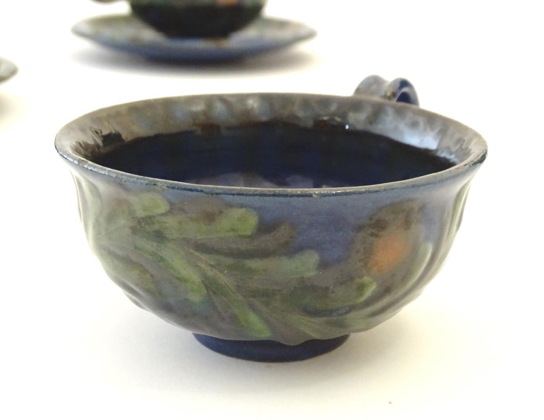 A quantity of Kahler Keramik Danish studio pottery tea wares, comprising a teapot and four cups - Image 12 of 30