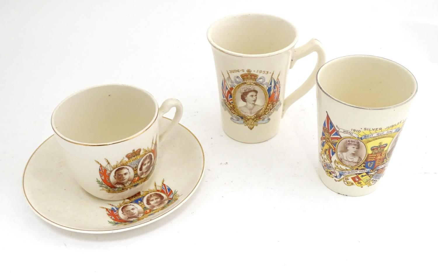 Royal commemorative ware to include three cups and a saucer Please Note - we do not make reference - Image 2 of 6