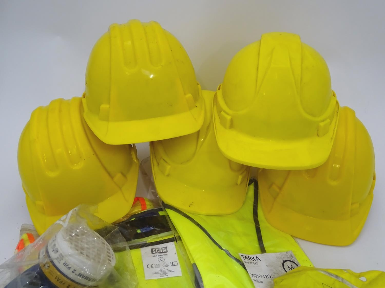 A quantity of health and safety equipment to include hard hats, safety glasses, hi vis vests etc. - Image 3 of 6