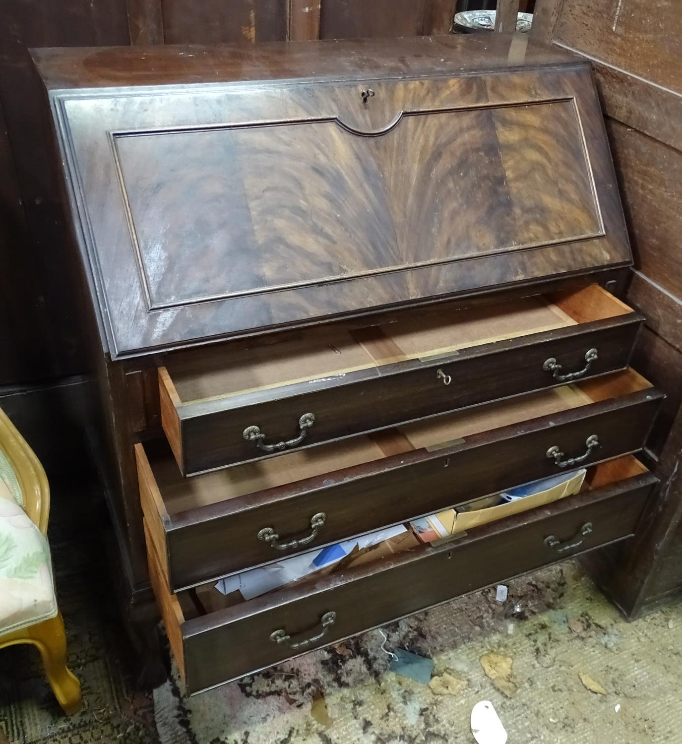 A 20thC mahogany bureau Please Note - we do not make reference to the condition of lots within - Image 4 of 4