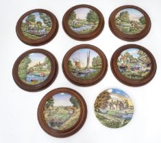 A quantity of Royal Worcester collectors plates in frames Please Note - we do not make reference