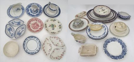A quantity of assorted Booths china, patterns to include Green Lotus, ribbed stoneware, Lorna Doone,