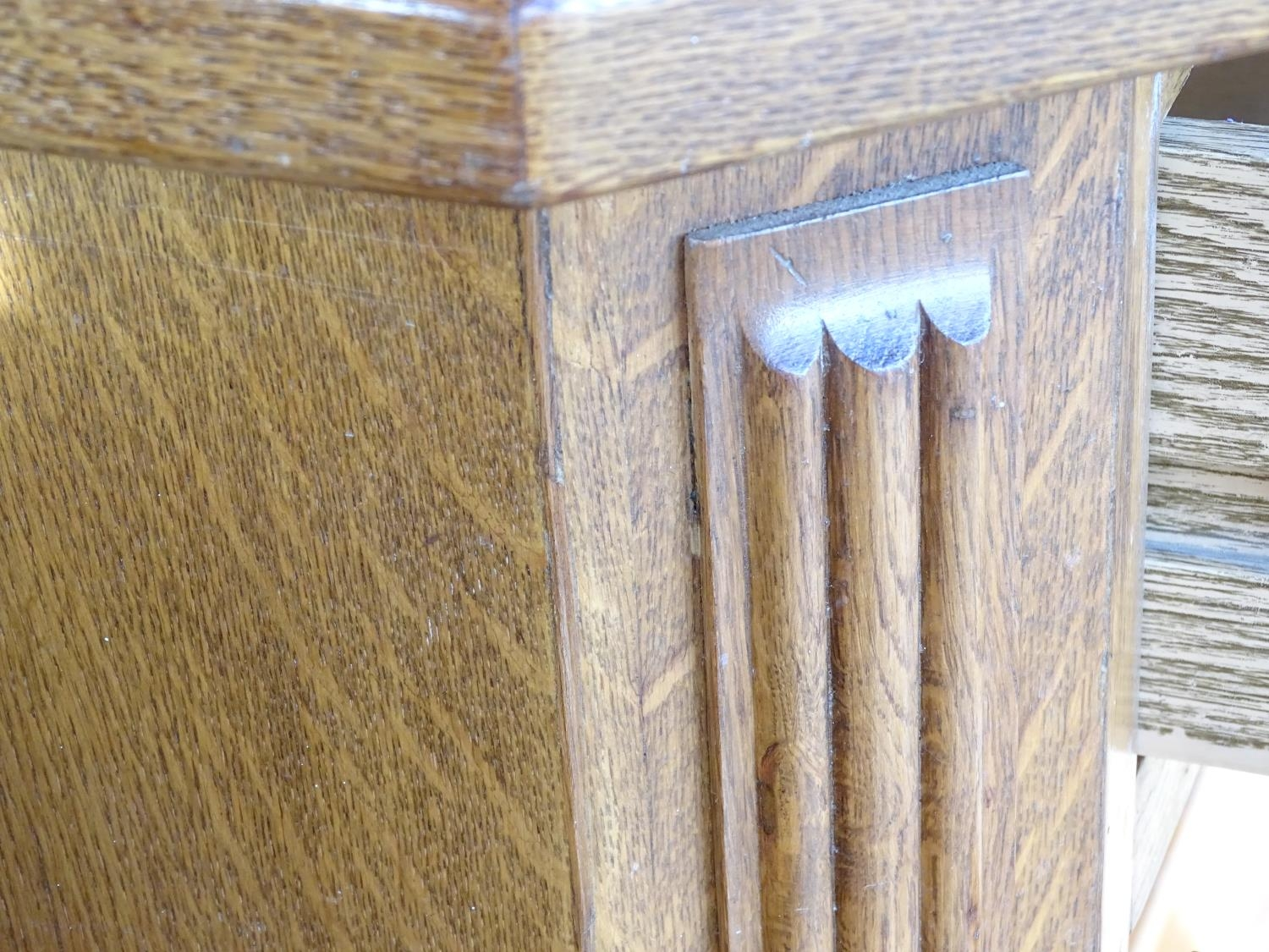 """A 20thC oak glazed dresser / cupboard. Approx. 75"""" tall Please Note - we do not make reference to - Image 2 of 5"""
