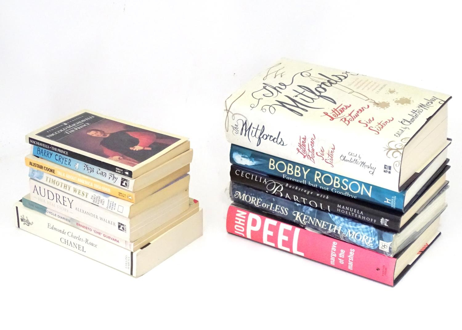 Books: A quantity of biographies and autobiographies to include John Peel, Kenneth Moore, Bobby