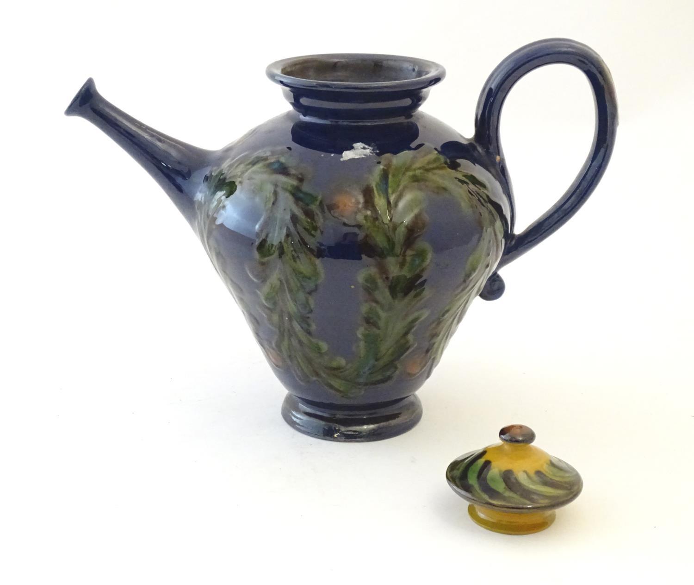A quantity of Kahler Keramik Danish studio pottery tea wares, comprising a teapot and four cups - Image 28 of 30
