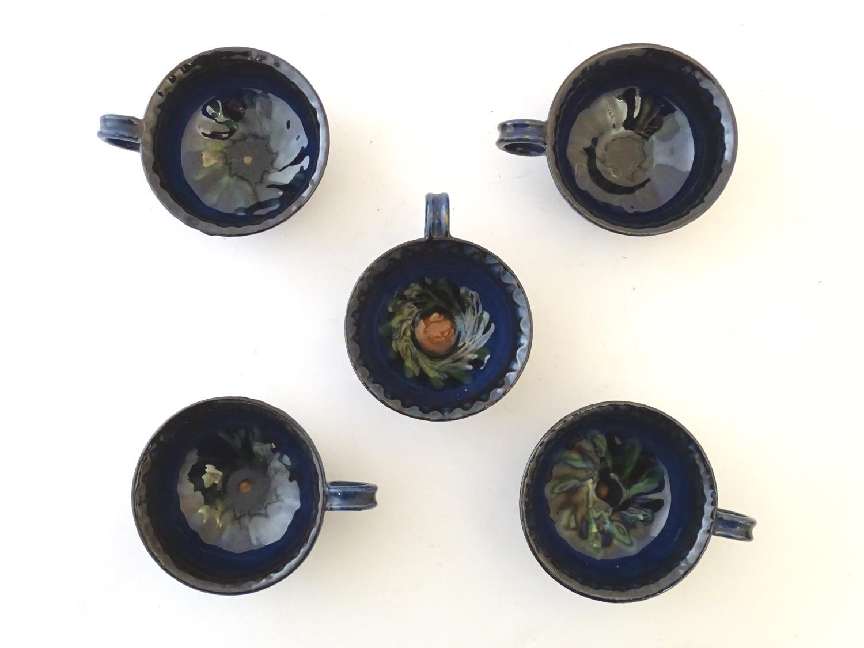 A quantity of Kahler Keramik Danish studio pottery tea wares, comprising a teapot and four cups - Image 24 of 30