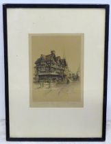 An etching of Hereford, signed Marjorie Bales Please Note - we do not make reference to the