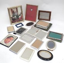 A quantity of picture frames, some silver plated. Please Note - we do not make reference to the