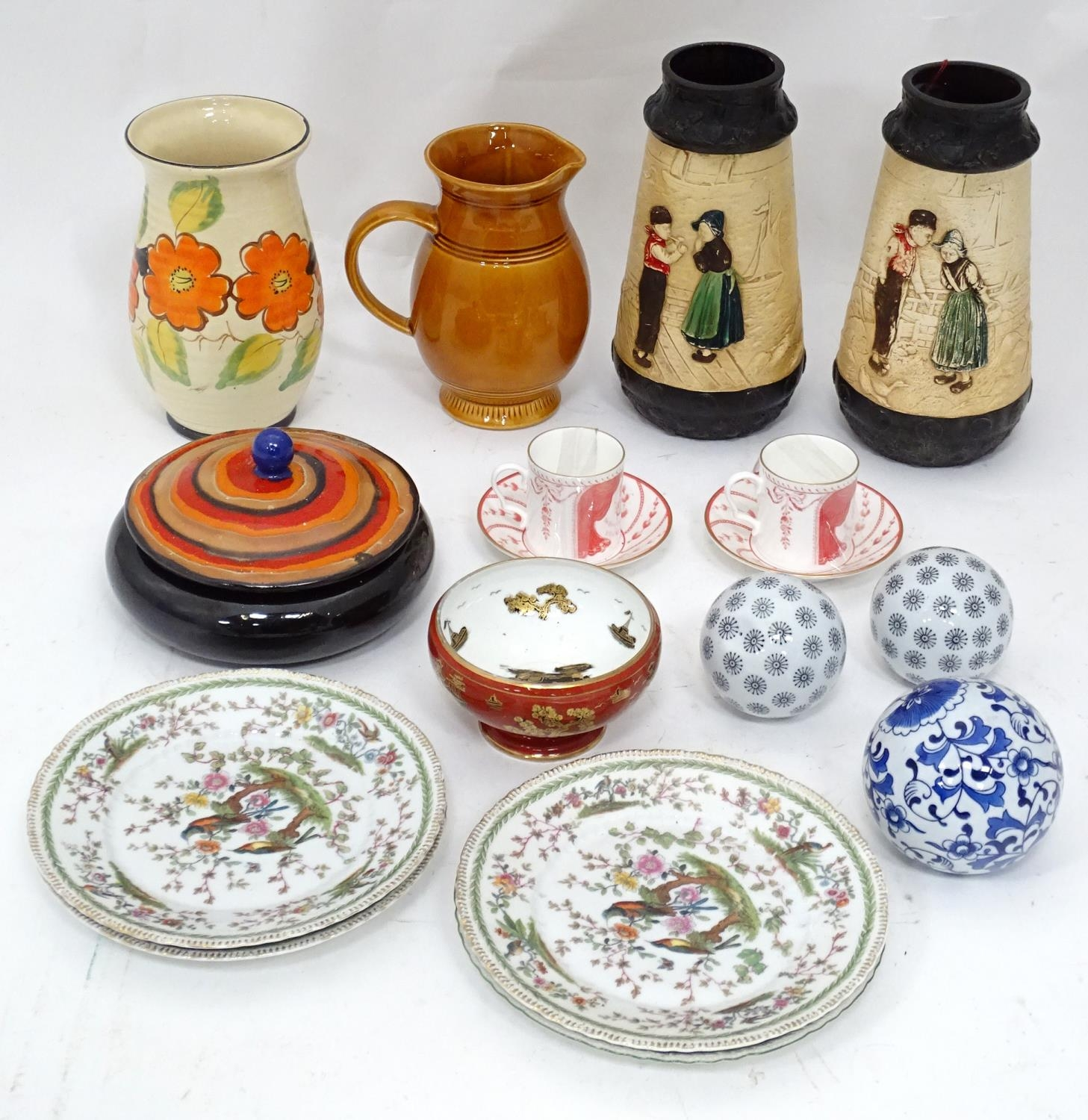 A quantity of assorted ceramics to include a pair of The Royal Opera and The Royal Ballet at