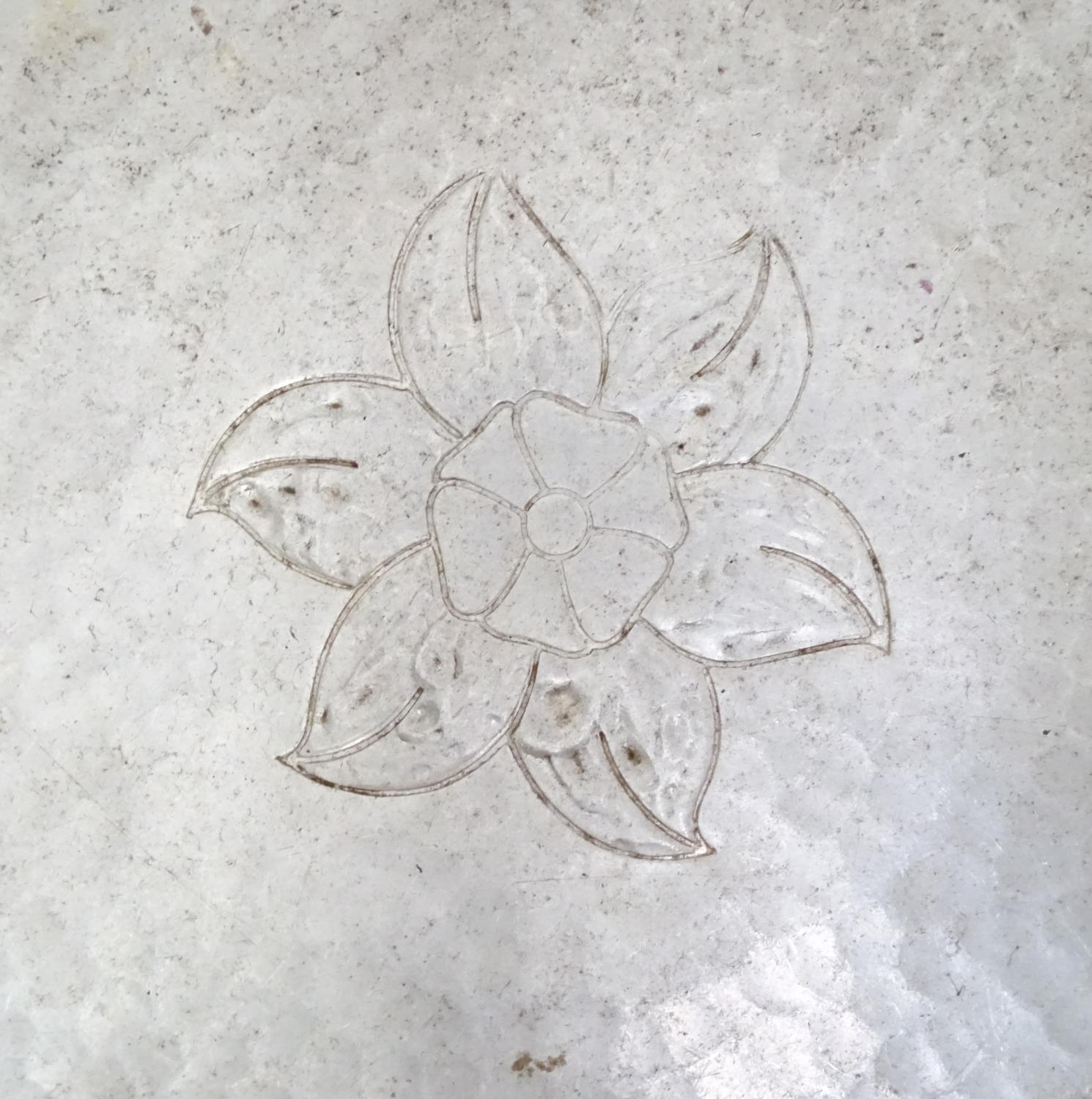 An aluminium charger with rose detail to centre, stamped to reverse Aluminium Guild Canada Please - Image 4 of 5