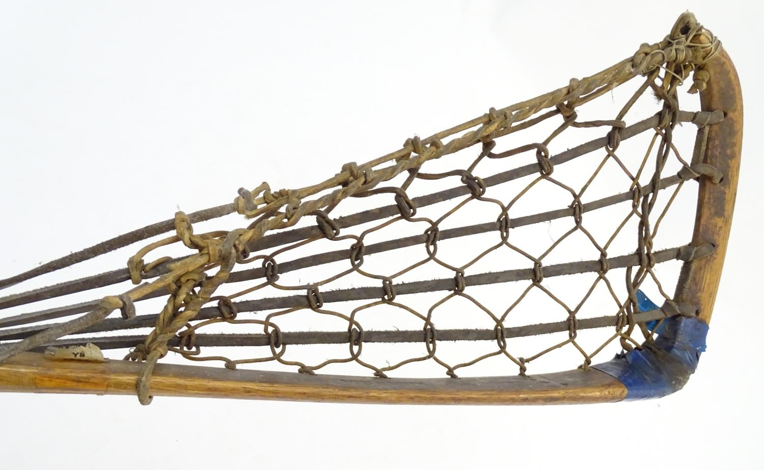 A Hattersley & Son wooden lacrosse stick / crosse, marked with maker and model Viktoria No. 1 to - Image 5 of 5