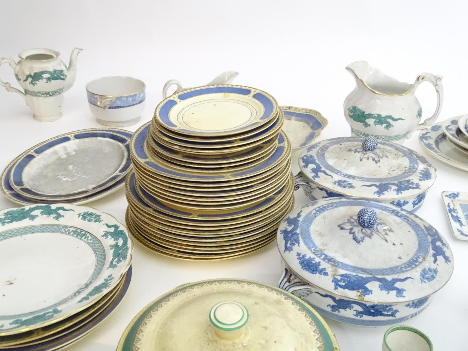 A large quantity of assorted Booths china to include teapots, plates, tureens, jugs, serving dishes, - Image 4 of 17