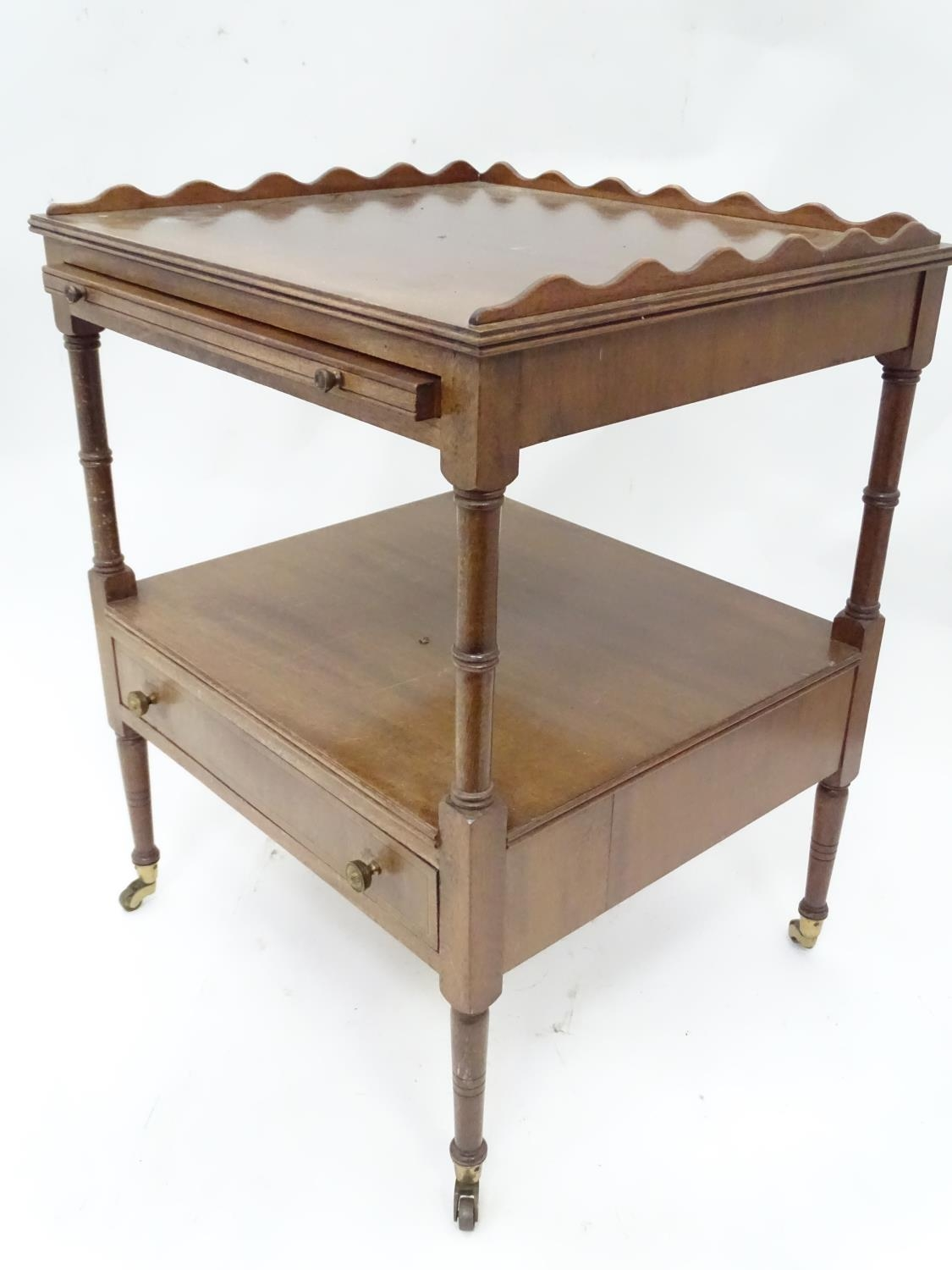 A small mahogany etagere Please Note - we do not make reference to the condition of lots within - Image 2 of 5