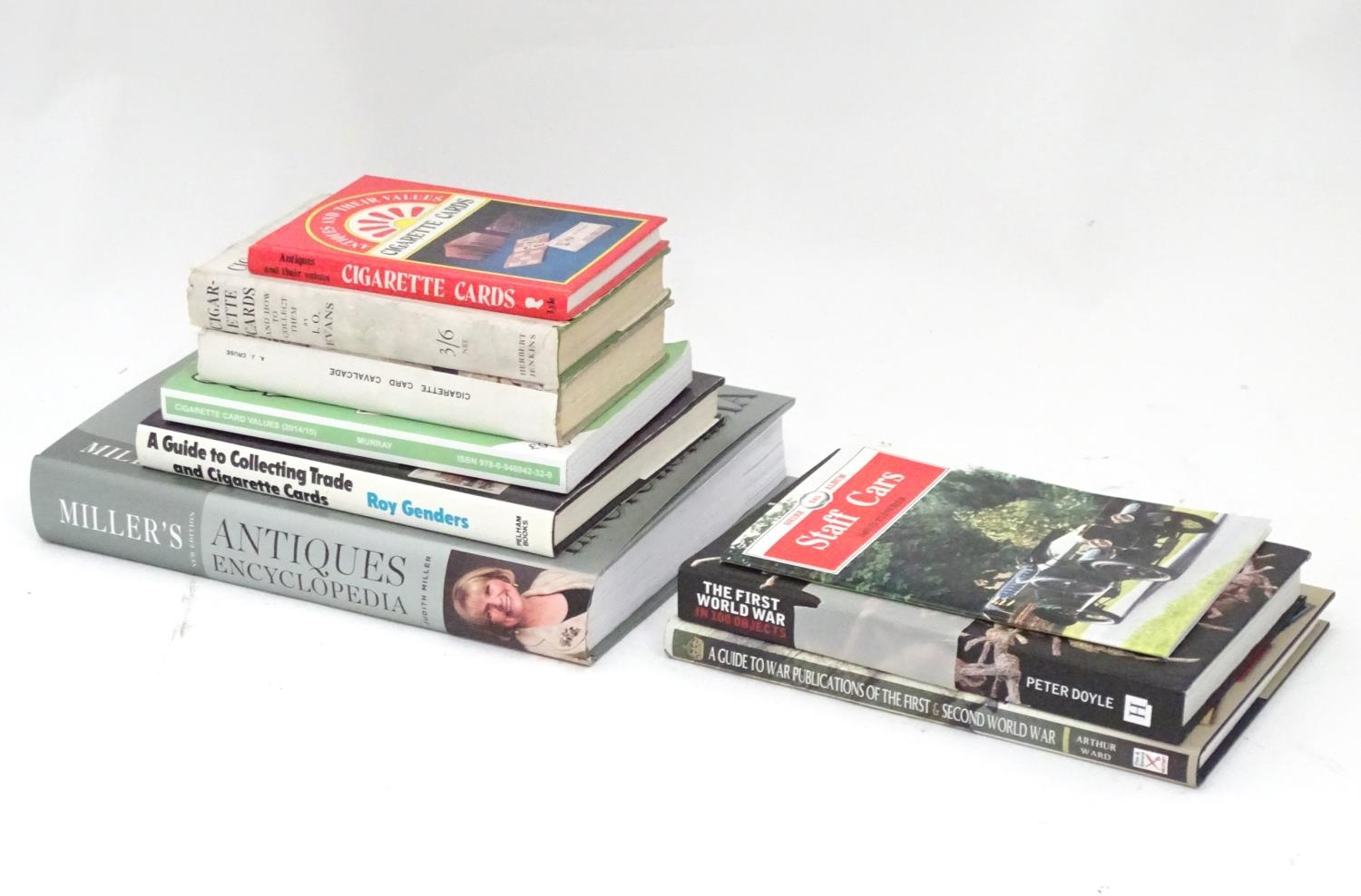 A quantity of assorted books to include Cigarette Trade Card Collecting, A Guide to War Publications