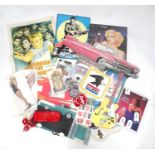 A quantity of American advertising wares. Together with a James Dean poster Please Note - we do