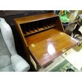 """A 20thC mahogany bureau on ball and claw feet. Approx. 40"""" high Please Note - we do not make - Image 2 of 4"""