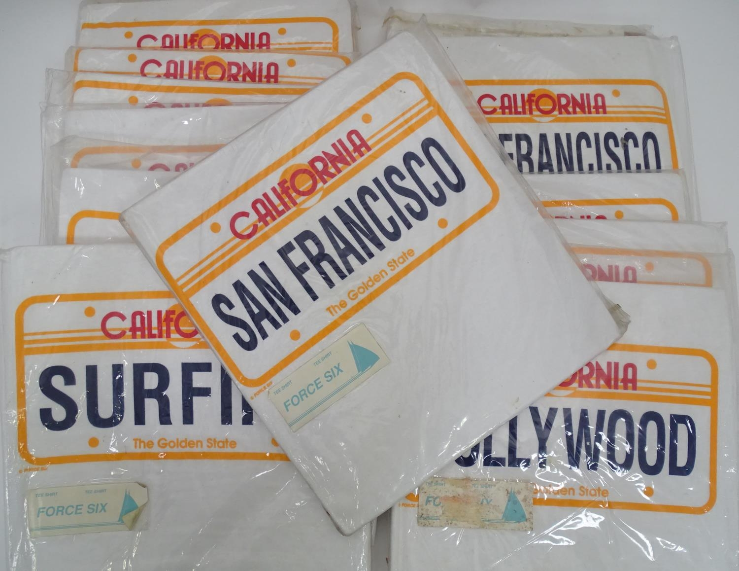 A quantity of t-shirts with California licence plate detail, to include Hollywood, Los Angeles, - Image 4 of 4