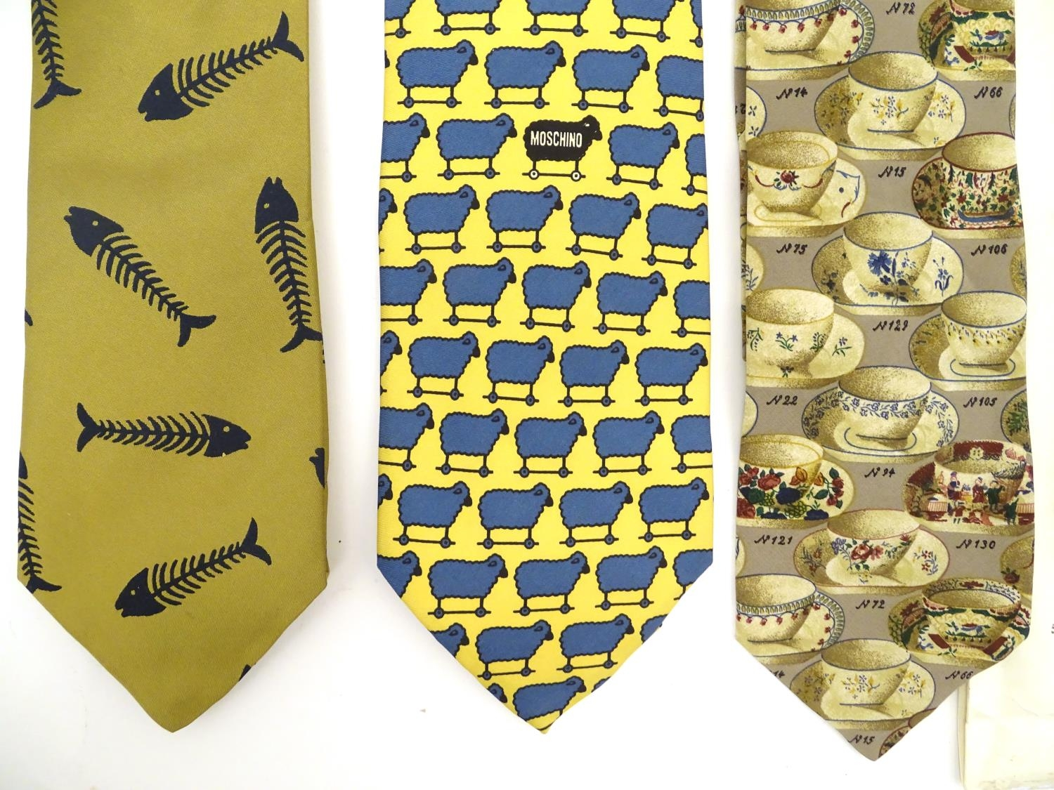 Vintage clothing/ fashion: 6 silk ties in various colours and patterns by Yves Saint Laurent, Nicole - Image 4 of 10