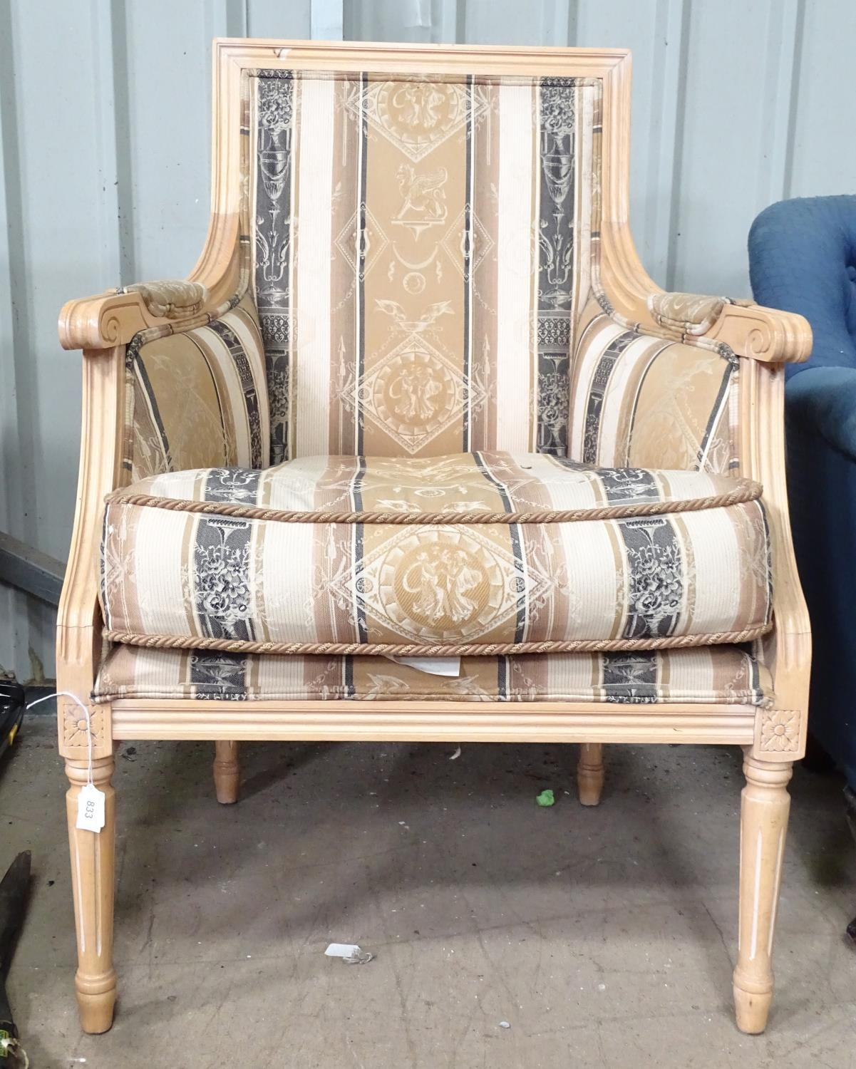 A late 20thC fauteuil style armchair Please Note - we do not make reference to the condition of lots - Image 3 of 3