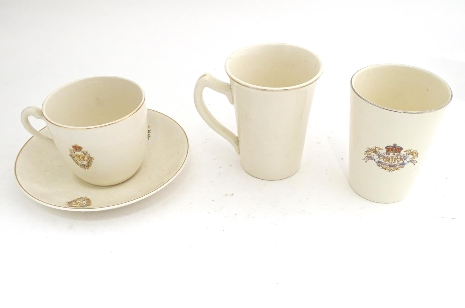 Royal commemorative ware to include three cups and a saucer Please Note - we do not make reference - Image 4 of 6