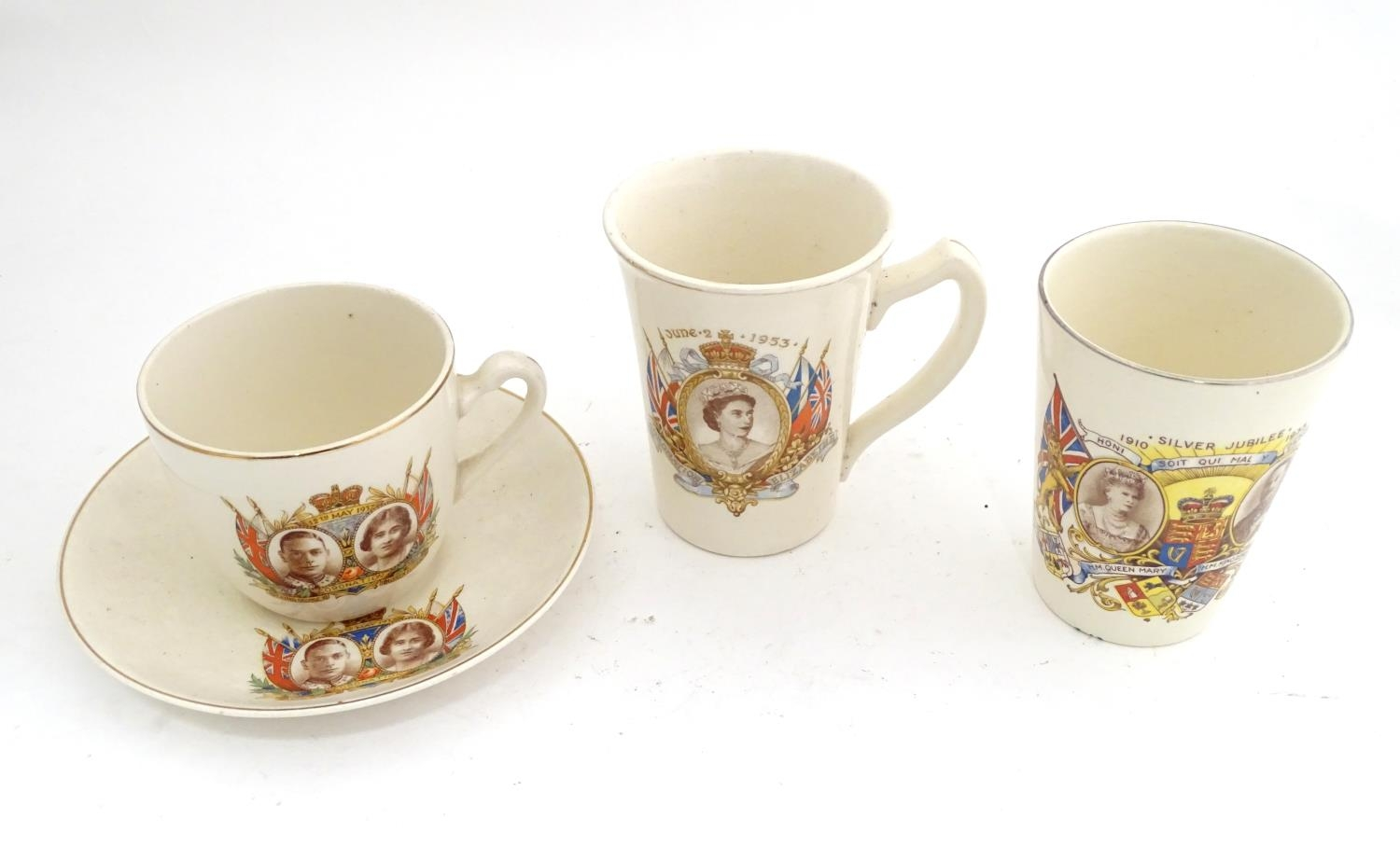 Royal commemorative ware to include three cups and a saucer Please Note - we do not make reference - Image 3 of 6