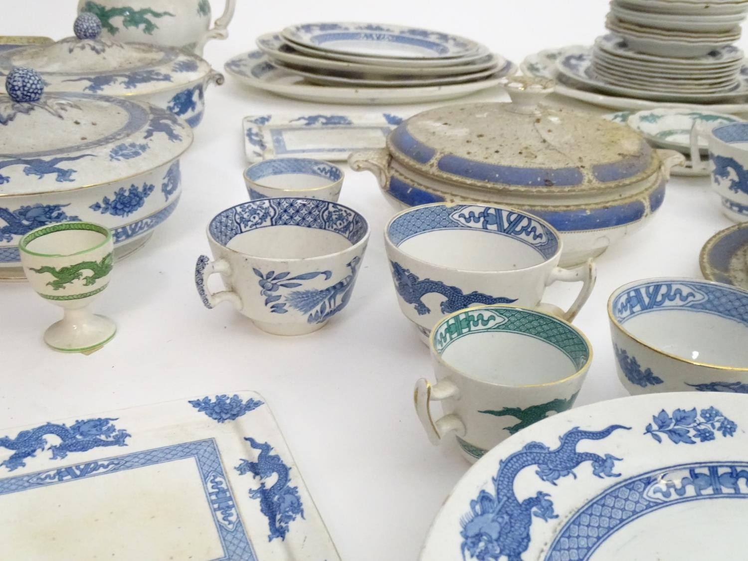 A large quantity of assorted Booths china to include teapots, plates, tureens, jugs, serving dishes, - Image 10 of 17