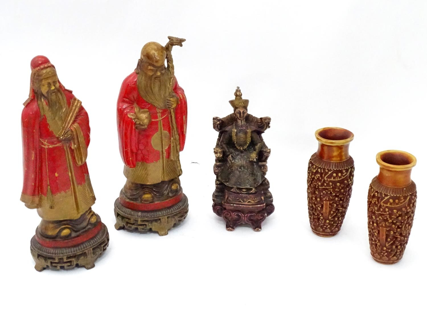 A quantity of Oriental figurines etc. Please Note - we do not make reference to the condition of