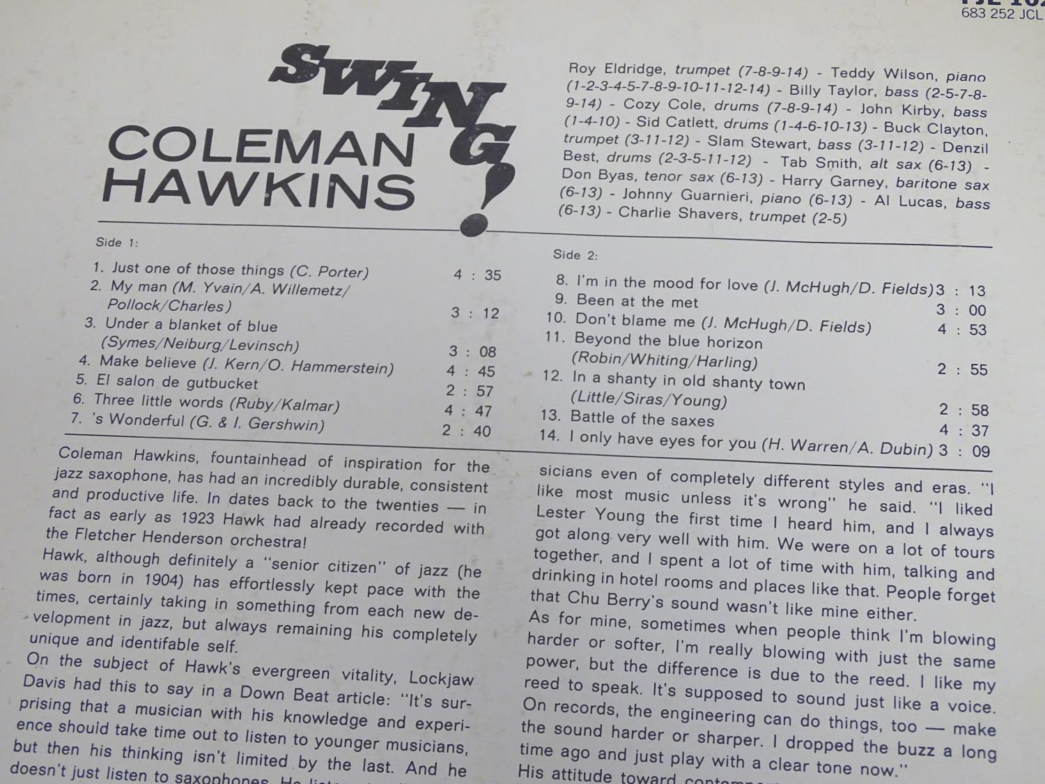 A collection of 20thC 33 rpm Vinyl records / LPs, Jazz, Big Band, Swing, comprising: Swing! (Coleman - Image 9 of 9