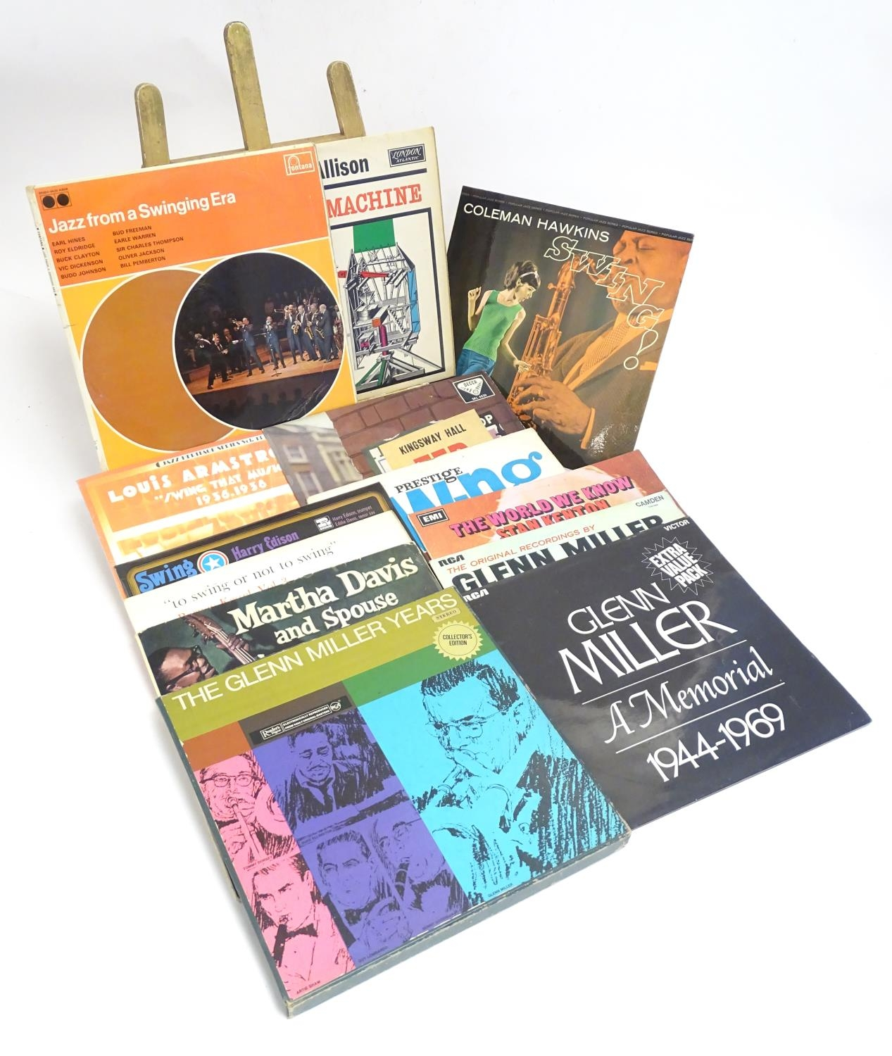 A collection of 20thC 33 rpm Vinyl records / LPs, Jazz, Big Band, Swing, comprising: Swing! (Coleman