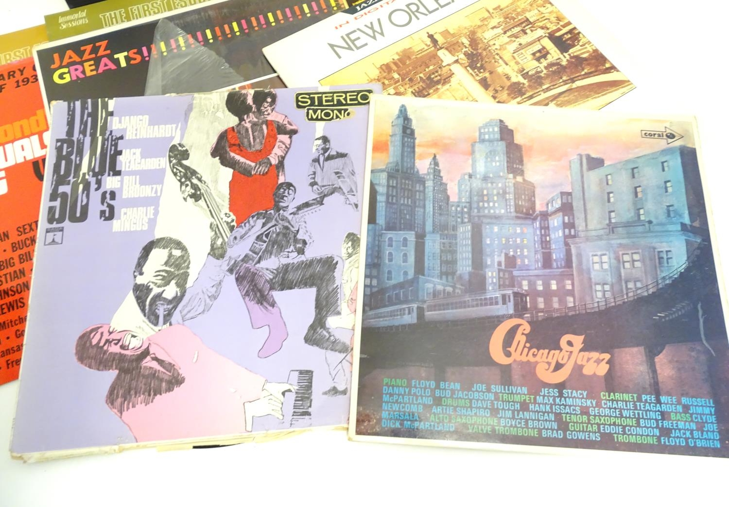 A collection of 20thC 33 rpm Vinyl records / LPs, - Jazz, comprising: The Panassie Sessions, In a - Image 7 of 11