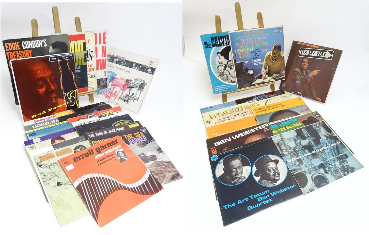 A collection of 20thC 33 rpm Vinyl records / LPs, - Jazz, comprising: The Eddie Condon Floor Show 2,