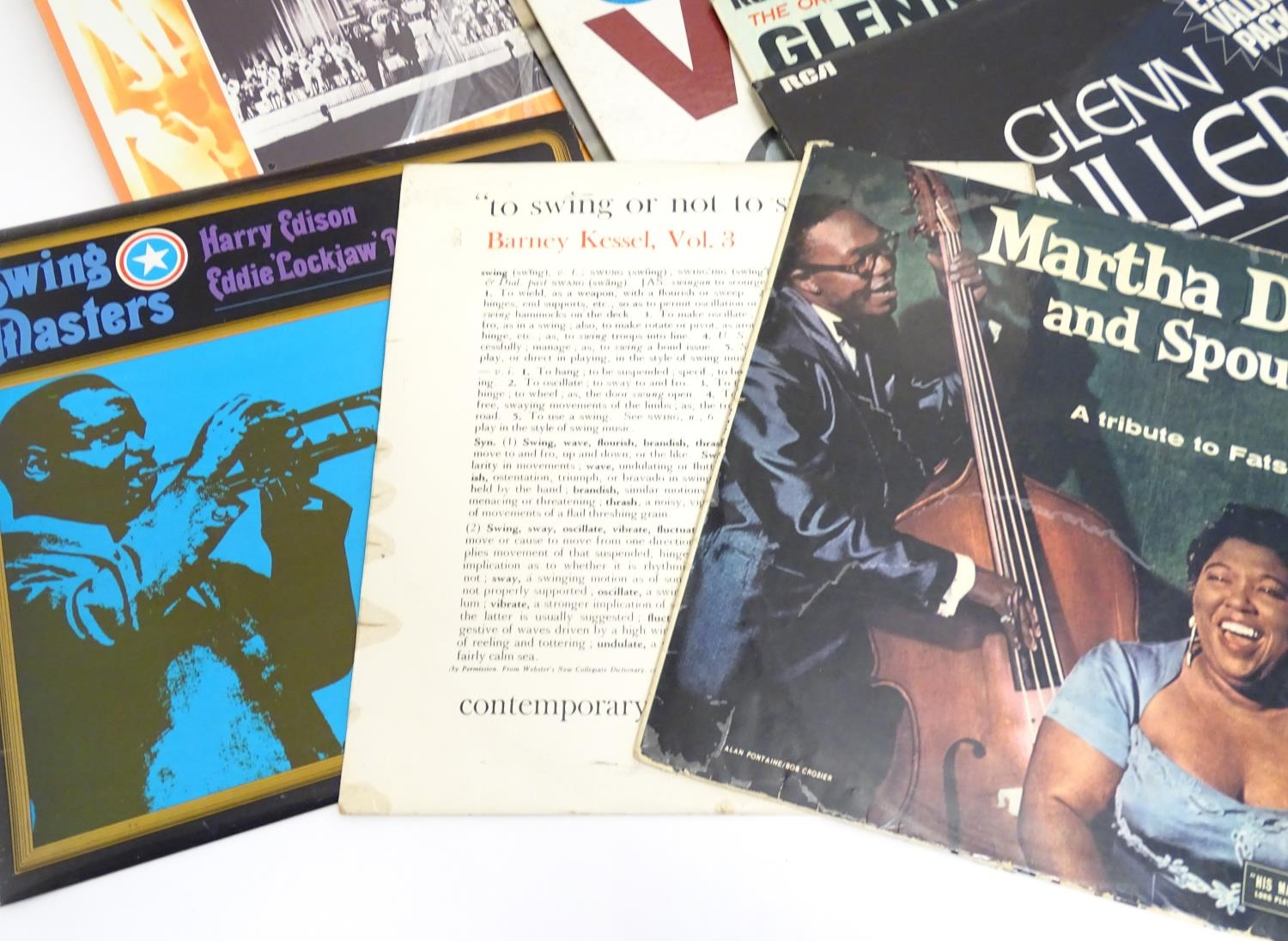 A collection of 20thC 33 rpm Vinyl records / LPs, Jazz, Big Band, Swing, comprising: Swing! (Coleman - Image 6 of 9