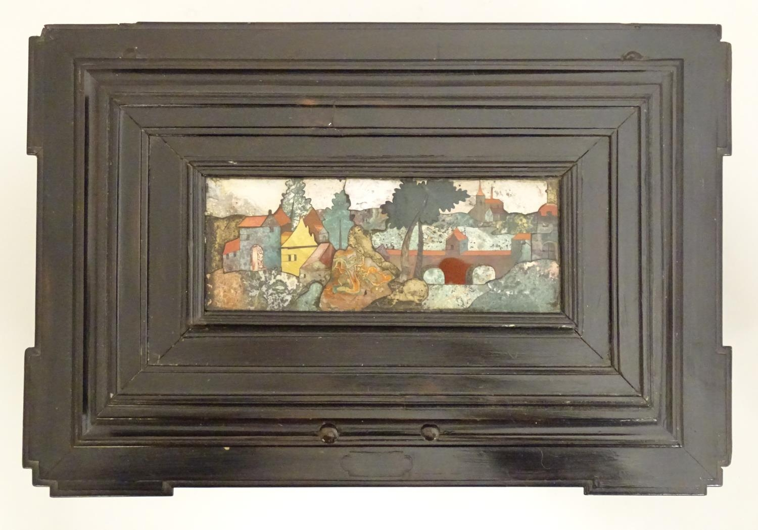 A 19thC Italian Grand Tour table cabinet / casket box of exceptionally large form with specimen - Image 53 of 58