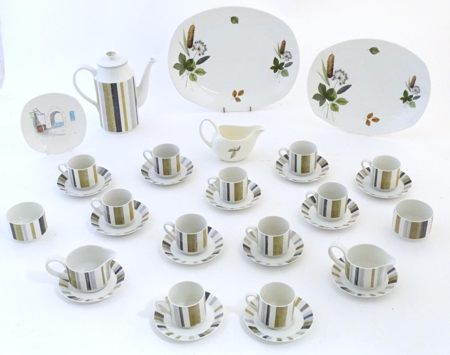 A quantity of assorted retro Midwinter wares, comprising a coffee pot, coffee cups and saucers etc
