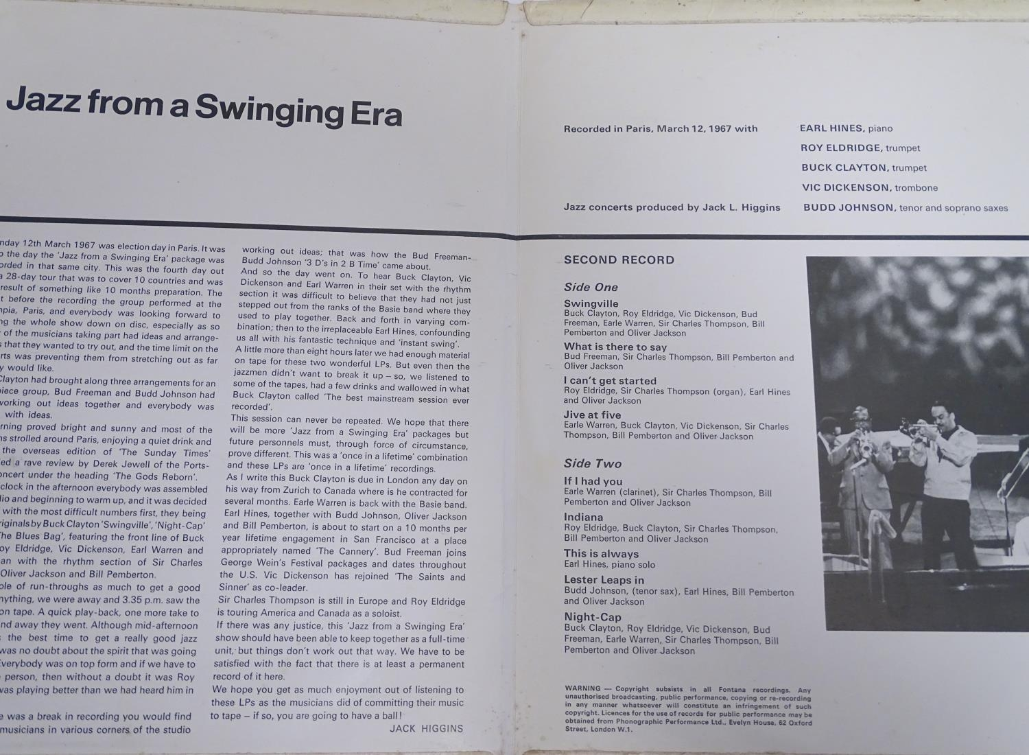 A collection of 20thC 33 rpm Vinyl records / LPs, Jazz, Big Band, Swing, comprising: Swing! (Coleman - Image 3 of 9