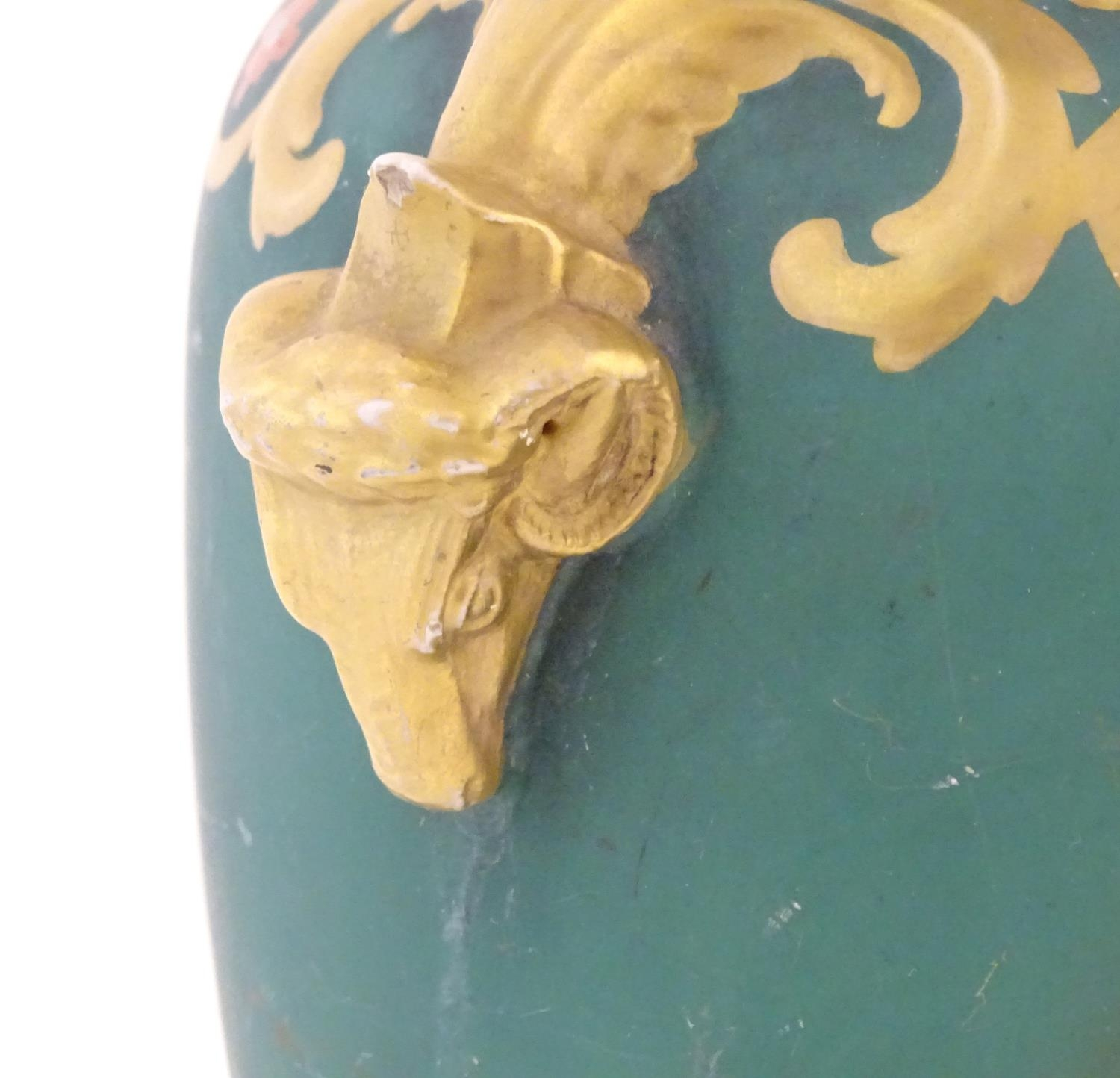 A Prattware baluster vase with Classical decoration depicting a Roman gladiator and chariot etc. - Image 9 of 12